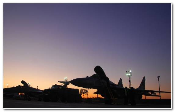 Image Mikoyan Mig 29 Mikoyan Gurevich MiG 23 Bulgarian Air Force Airplane Evening
