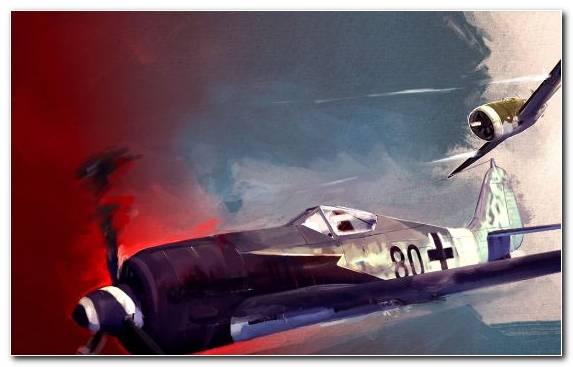 Image Military Aircraft World War II Focke Wulf Dogfight Wing