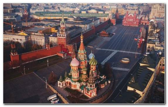 Image Moscow Kremlin Birds Eye View Cityscape City Landmark