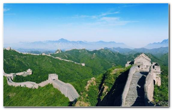 Image Mount Scenery Nature Reserve Mountain Great Wall Of China Highland