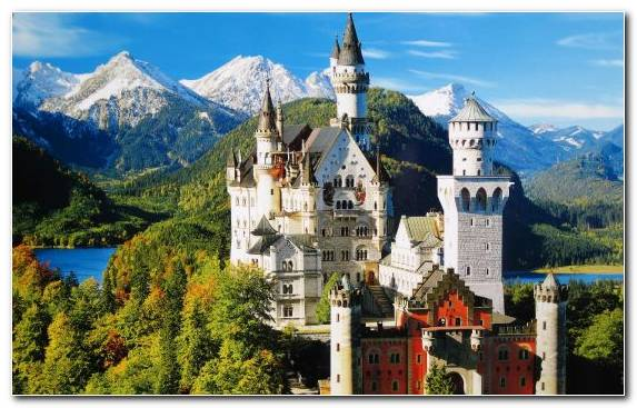 Image Mountain Range Tourist Attraction Mountain Village Neuschwanstein Castle Tourism