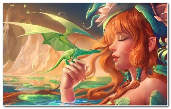 Image Mountains Dragon Water Illustration Mythical Creature