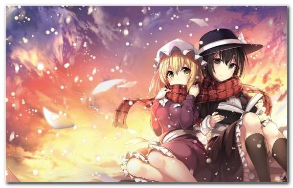 Image Music Anime Sky Touhou Project