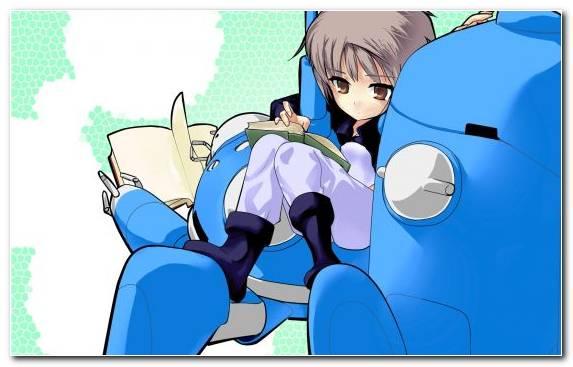 Image Nagato Yuki Girl Robot Azure Vertebrate