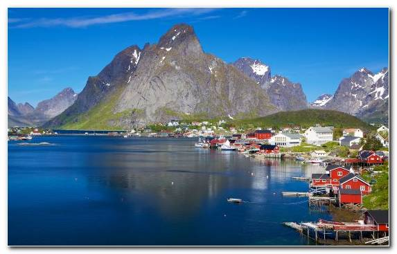 Image Nature Fjord Mountainous Landforms Water Lofoten