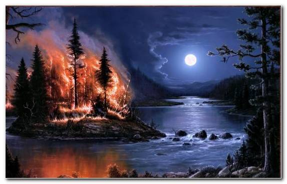Image Nature Reflection Evening Wildfire Firestorm