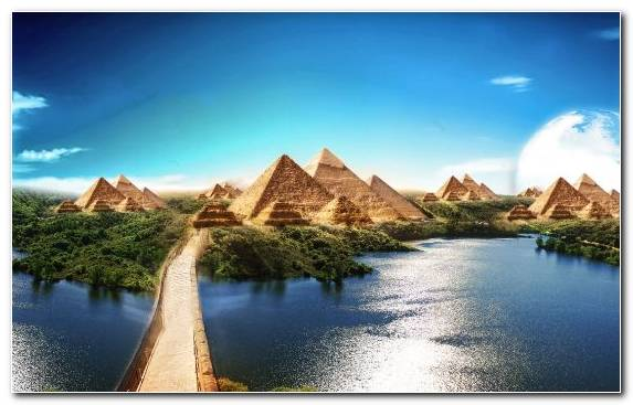 Image Nature Reflection Sky Egyptian Pyramids Pyramid