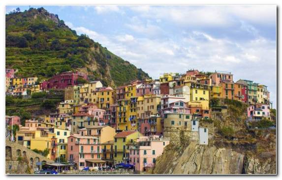 Image neighbourhood mountain village mountain Vernazza travel