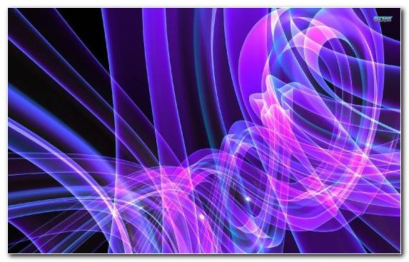 Image Neon Lighting Light Purple Blue Fractal Art