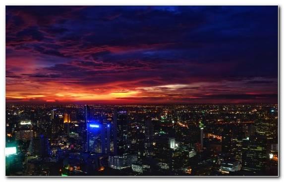 Image night bangkok skyline sky horizon