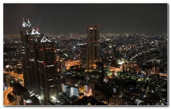 Image Night Capital City Skyline Skyscraper Cityscape