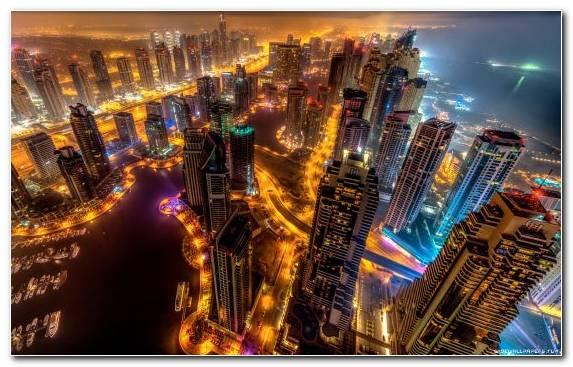 Image Night City Building Horizon Metropolis