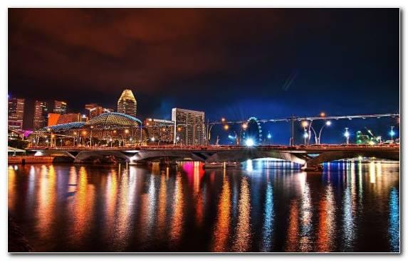 Image Night Cityscape Horizon Skyline Television Set