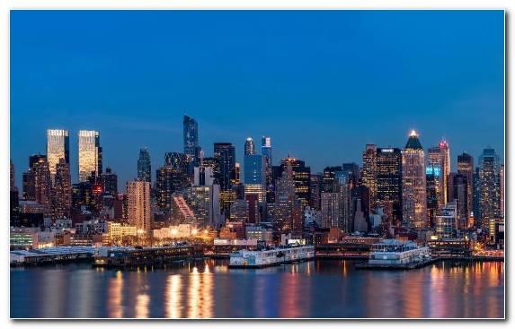 Image Night Cityscape Megalopolis Urban Area Skyline