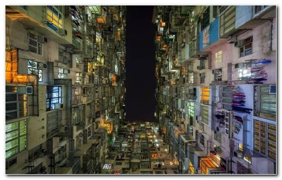 Image Night Cityscape Street House Urban Area
