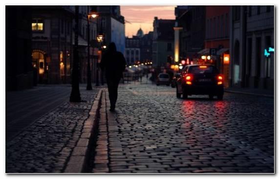 Image night evening town lane darkness
