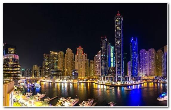 Image Night Hotel Cityscape Horizon Dubai Marina