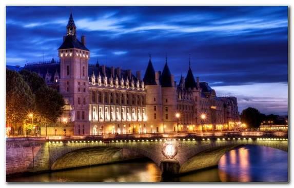 Image Night Metropolis Landmark Conciergerie City