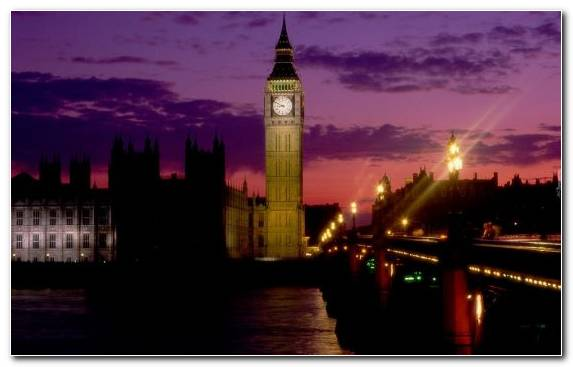 Image Night Skyline Landmark Capital City Big Ben