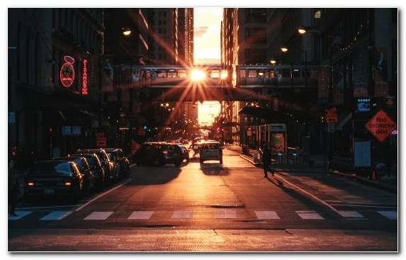 Image night sunset cityscape downtown darkness