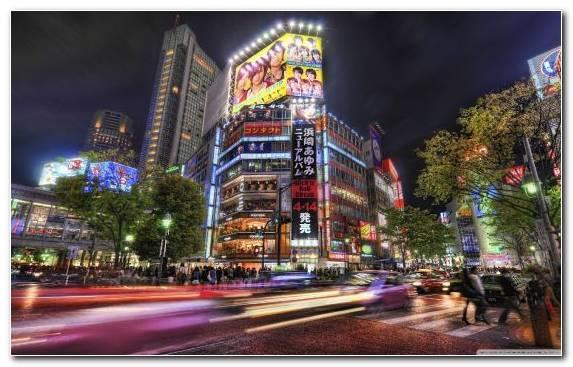 Image Night Urban Area Metropolis Cityscape Tokyo