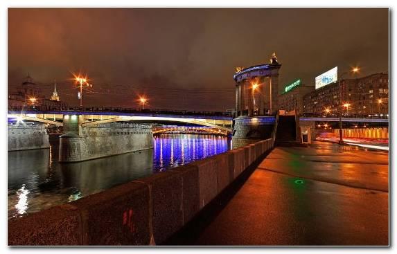 Image Night Waterway Cityscape Water City