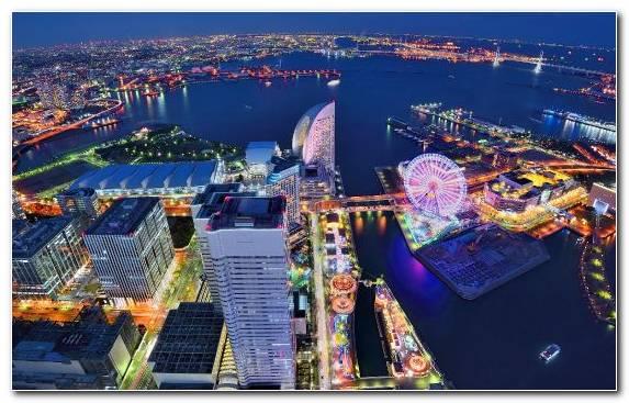 Image Nightscape Metropolis Birds Eye View Fair Tokyo