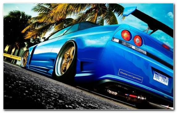 Image nissan gt r wheel sports car car tuning blue