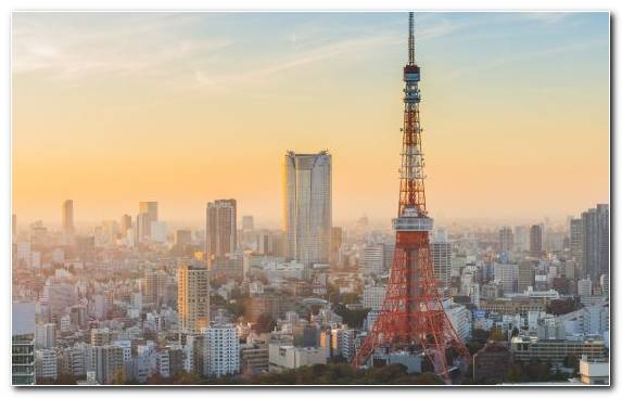 Image Odaiba Eiffel Tower Roppongi Hills Sky Cityscape