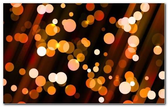 Image Orange Circle Light Pattern Bokeh
