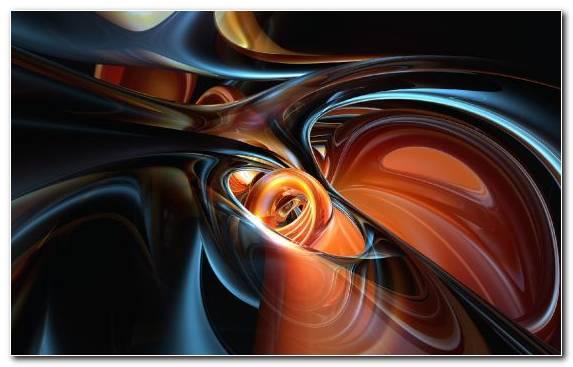 Image Orange Line Fractal Art 3d Computer Graphics
