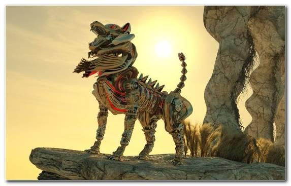 Image Organism Upland Dragon Dinosaur Metal