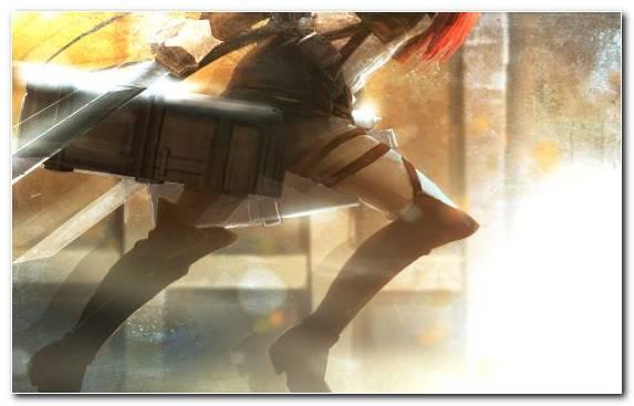 Image Painting Mikasa Ackerman Girl Sunlight Eren Yeager