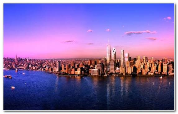 Image Panorama Art Metropolis Reflection One World Trade Center