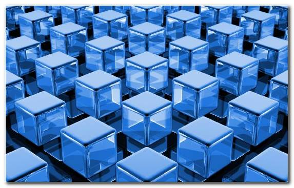 Image Pattern Square Three Dimensional Space Line Blue