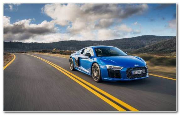 Image performance car blue sportscar audi r8 car