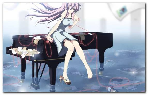 Image Piano Girl Illustration Music Mangaka