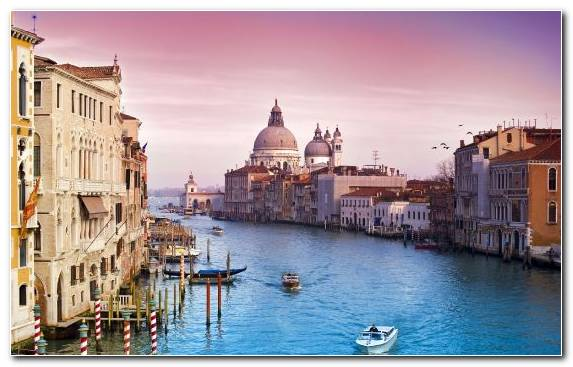 Image Piazza San Marco Canal Gondola Cityscape Grand Canal