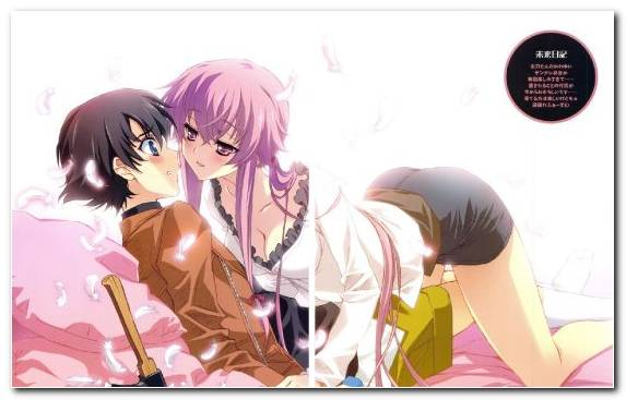 Image Pink Joint Illustration Girl Future Diary