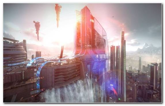 Image Playstation 4 Morning Capital City Beautiful Futuristic City Horizon