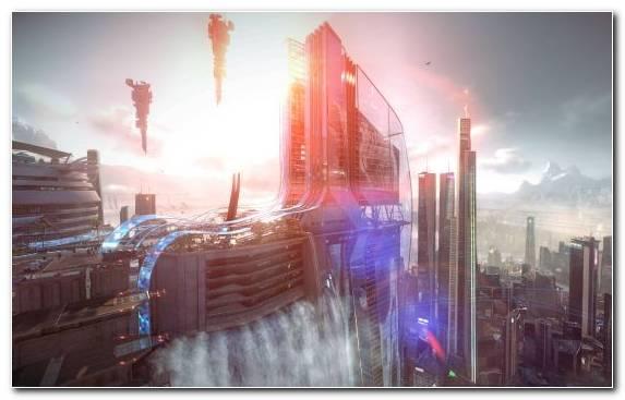 Image playstation 4 morning capital city beautiful futuristic city horizon