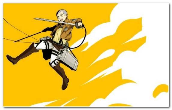 Image pollinator attack on titan anime illustration yellow