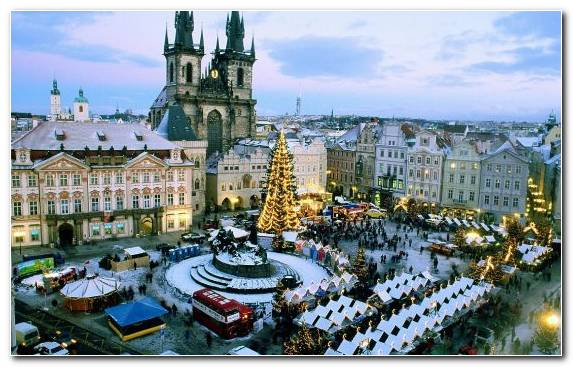 Image Prague Astronomical Clock Plaza City Town Old Town Square