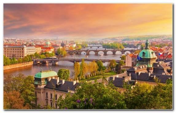 Image Praha Cityscape Sky Panorama City