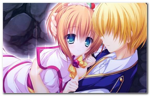 Image Purple Couple Boy Anime Girl