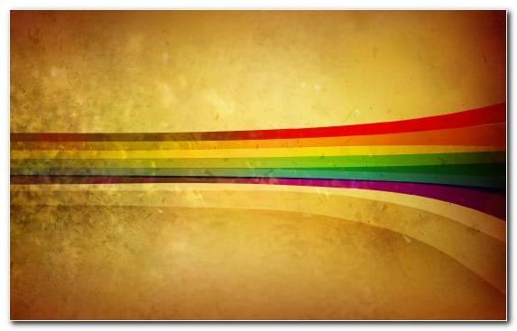 Image Rainbow Retro Style Line Vintage Color