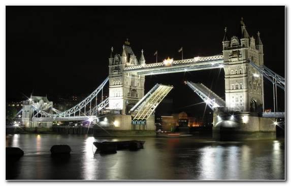 Image reflection capital city night water bridge