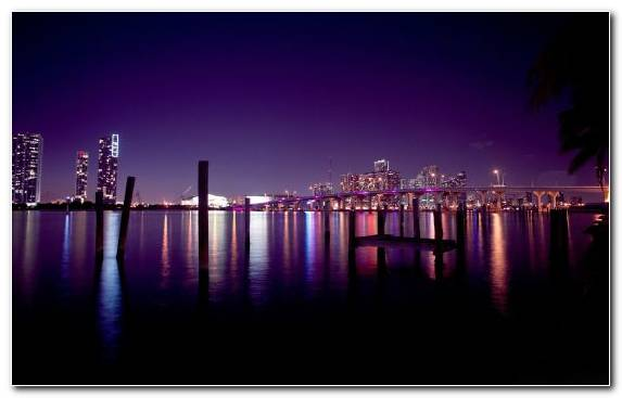 Image Reflection Cityscape Night City Skyline