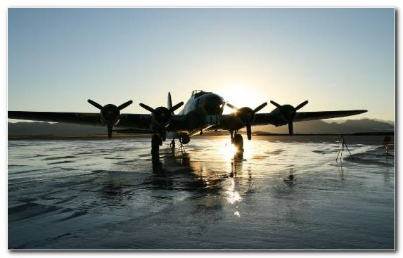 Image Reflection Runway Air Force Flight Aircraft