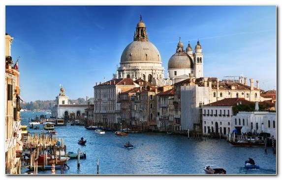 Image Rialto Bridge Landmark Medieval Architecture Waterway City